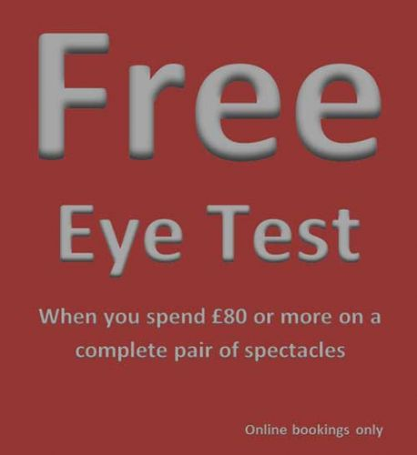 Eye test offer when booked online