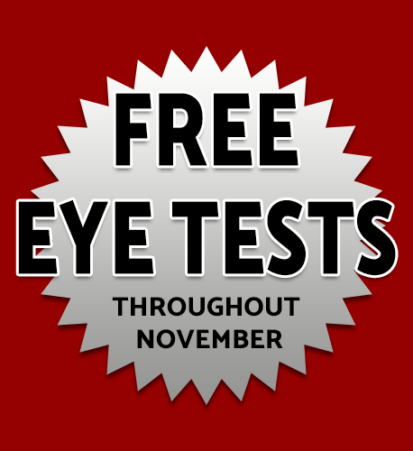 Free Eye Tests Throughout November